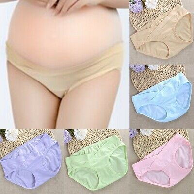 Womens Maternity Panties Sexy Cotton Solid Boyshort The Bump Pregnancy Underwear