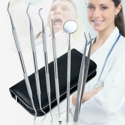 5/6 PC Dentist Oral Cleaning Kit Dental Toothpick Probe Hygienic Stainless Steel