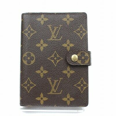 Authentic Louis Vuitton Diary Cover Agenda PM Browns Monogram 318465