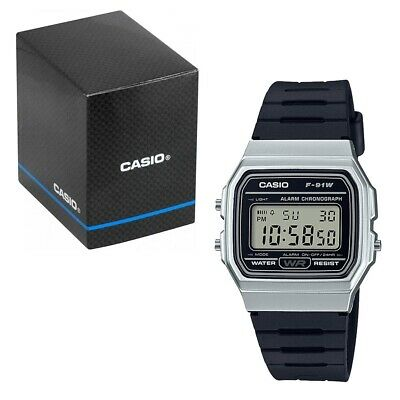 Casio Classic LCD Digital Watch Black and Silver F-91WM-7AEF LCD for Men and Wom