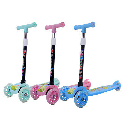 Kids Child Scooter Outdoor Toys 3 in 1 Push Kick Scooters with T-Bar Tilt /Seat