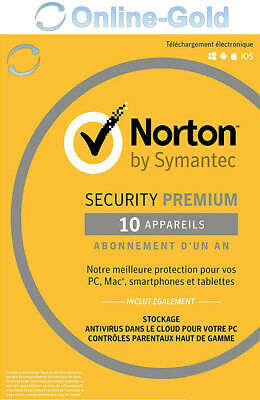 Norton (Internet) Security - 10 utilisateurs / 1 an clé d'activation - EU/FR