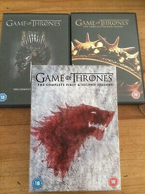 Game Of Thrones - Series 1-2 - Complete (DVD, 2013, 10-Disc Set, Box Set)