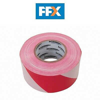 Fixman 194216 Barrier Safety Tape 70mm x 500m Red / White