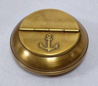 G4254: Maritime Table Flip Ashtray Marine Ashtray, Brass 10 CM
