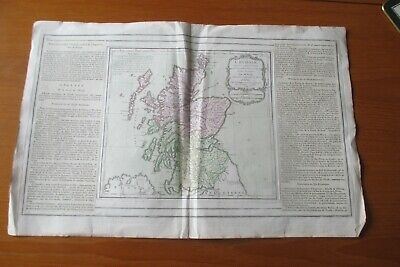 1766 Scotland  Colour Map Brion With French Text