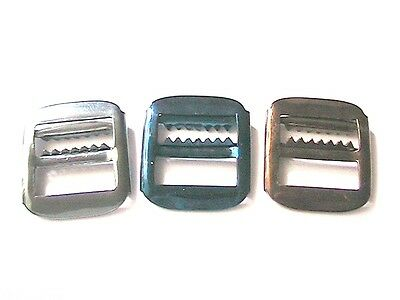 FRENCH 1920s MEN CHROME METAL BUCKLES~LOT OF 3~FOR BUCKLE / CINCH BACK PANTS~NEW