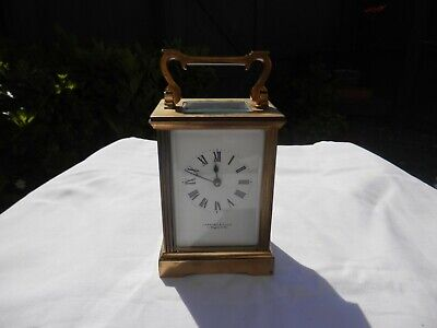 Garrard & Co Ltd, Renowned Jewellers Regent St London Brass Carriage Clock Worki