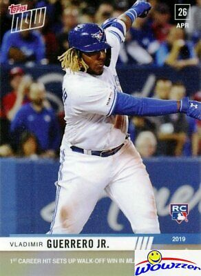 2019 Topps Now #137 Vladimir Guerrero Jr FIRST PRINTED TOPPS ROOKIE MINT-RC LOGO