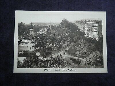 Vintage French Postcard Of Lyon Grand Hôtel D'angleterre
