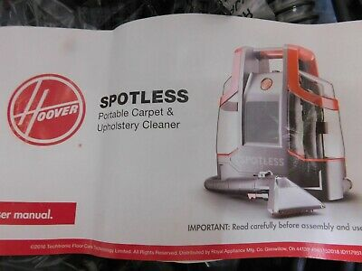Hoover Spotless Portable Carpet and Upholstery Spot and Stain Cleaner | FH11300P