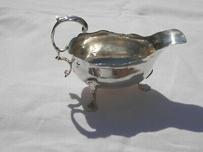 George Iii Solid Silver Sauce Boat London 1768