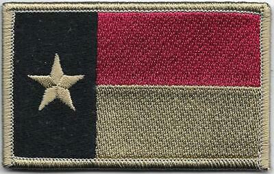 Faded Texas Lone Star State Flag Patch VELCRO® BRAND Hook Fastener 2nd Quality