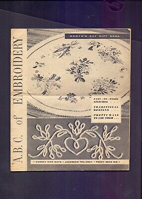 12 page Woman's Day Gift Book A.B.C. of Embroidery     (RB2)