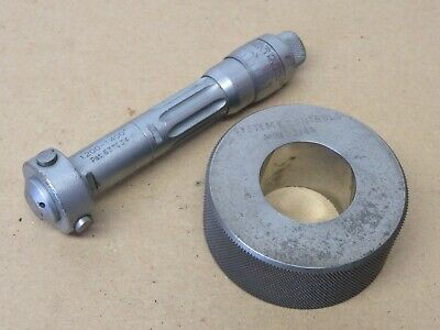 """Shardlow IMICRO 1.200"""" to 1.400"""" 3 Point Bore Micrometer With Setting Ring ME210"""