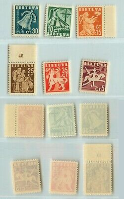 Lithuania 1940 SC 317-322 mint . rtb2209