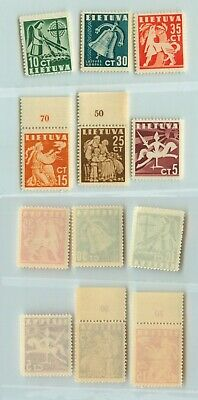 Lithuania 1940 SC 317-322 mint . rtb2210
