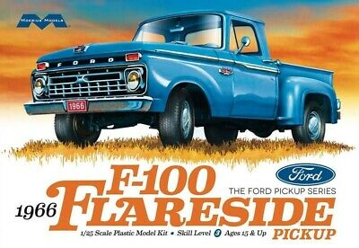 Moebius 1/25 1966 Ford F-100 Flareside Pickup Truck Plastic Model Kit 1232