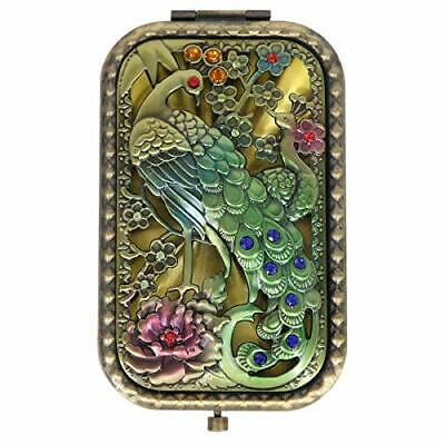 Ivenf Antique Vintage Square Compact Purse Mirror Gift