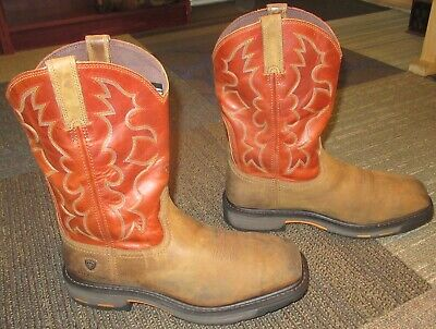 3a44bf3e97f NEW ARIAT MEN'S Workhog 8 H20 Oily Distressed Brown Size 10.5 M ...