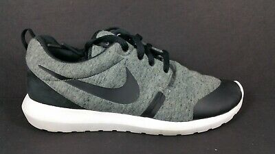 Nike Roshe One GS Black Metallic Silver White 599728 021 US 7y
