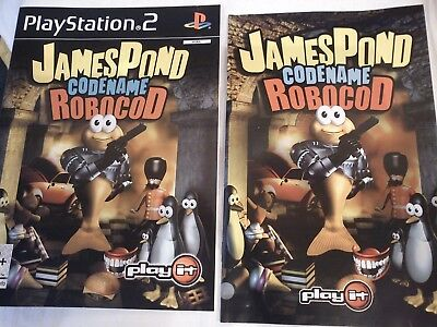 Manual And Cover Only - James Pond Codename Robocod For Sony Playstation 2 Ps2
