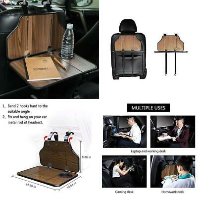 Fms Multi-Functional Car Back Seat Folding Table Wooden Portable Foldable Vehicl