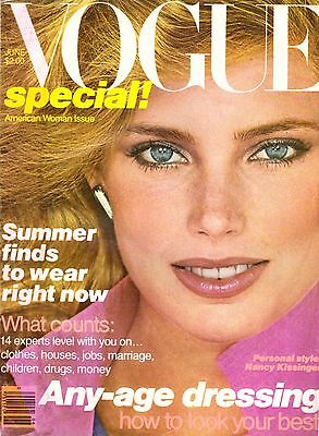 1979 Vogue Magazine Kelly Emberg Gia Carangi Susan Sarandon Brooke Adams 1970s