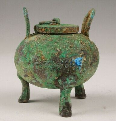 Rare Chinese Old Bronze Handmade Carving Pot Jar Decorative Gift Collection