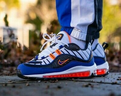 4133657c84 NIKE AIR MAX 98 - White / Royal Blue / Total Orange - 5-12UK 6-13US ...