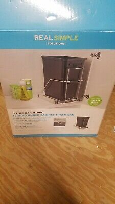 Kitchen Trash Can Pull Out Bin Holder Under Cabinet Sliding Organizer NEW