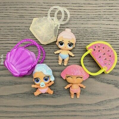 Lot 3 LOL Surprise dolls LiL Sisters SPLASH & Crystal & GLITTER QUEEN CLUB toy
