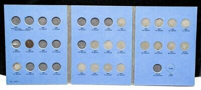 1887-1912 Liberty Head V Nickel Album Set - 18 Coin Collection - Near Complete