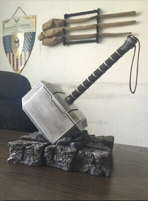 Thor Hammer Mjolnir Avengers End Game Replica Prop Resin Cosplay 1:1 Full Solid