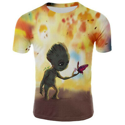 Newest Women Men Casual T-Shirt 3D Printing Groot Short Sleeve Oversized Tee Top