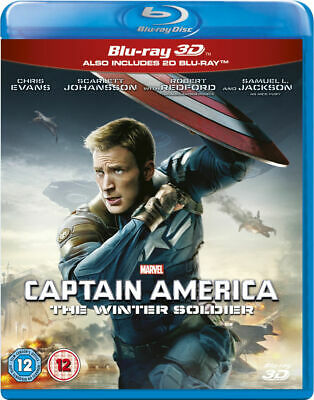 Captain America The Winter Soldier 3D & 2D - New Rabc 2 Blu Ray Set - Marvel