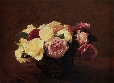 CHOP330 100/% hand-painted high quality rose flower art oil painting on canvas