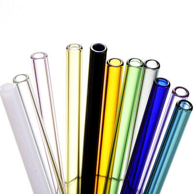 Straight Pyrex Glass Drinking Straw Tube Reusable Wedding Birthday Party