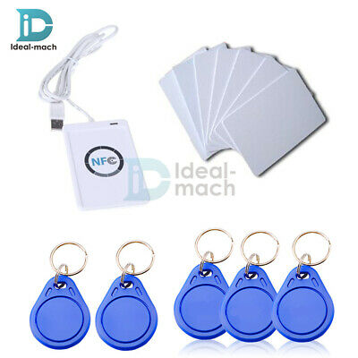 NFC ACR122u Reader&Writer 13.56Mhz RFID Copier Duplicator+5pcs UID Cards+Tags