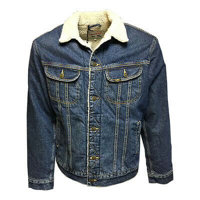 Mens Lee Vintage Authentic Corduroy or Denim Rigid Sherpa Rider Jacket