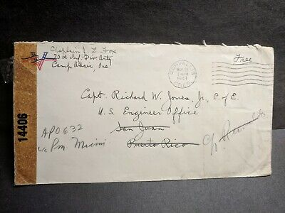 APO 632 CAMP ADAIR, ORE 1943 Censored WWII Army Cover to SAN ANTONIO LOS BANOS