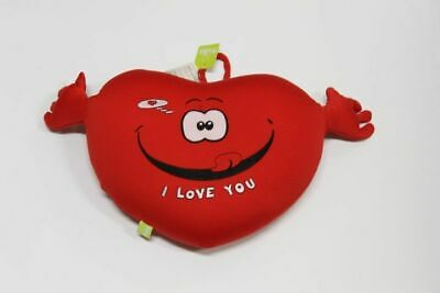 "Peluche Cuscino Cuore con Braccia Antistress ""I Love You"" 30 x 26 cm"