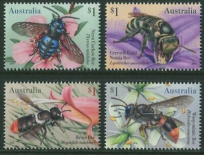 Native Bees 2019 - Mnh Set Of Four (Bb)