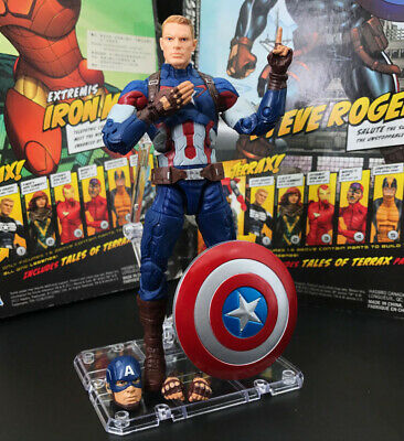 "Marvel Legends Captain America 3 Civil War With Stand 6"" Loose Action Figure"