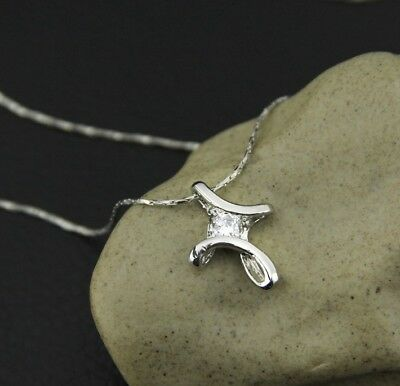Cross Necklace Infinity Silver Pendant Women Jewelry Fashion Charm Crystal Gift