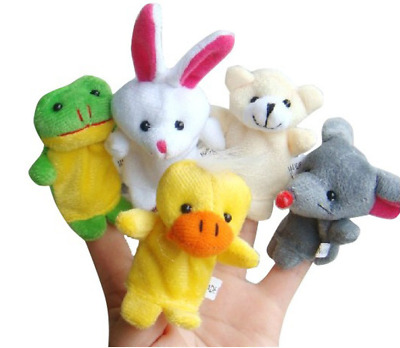 10Pcs/Pack Baby Kids Finger Animal Educational Story Toys Puppets Cloth Plush S