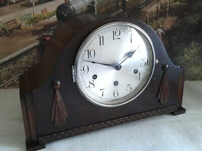 Art Deco style Westminster Chiming Mantle clock in excellent restored condition