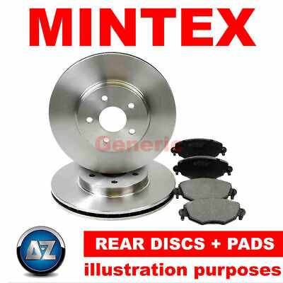 c46 For Iveco 11-11 Mintex Rear Brake Discs Pads