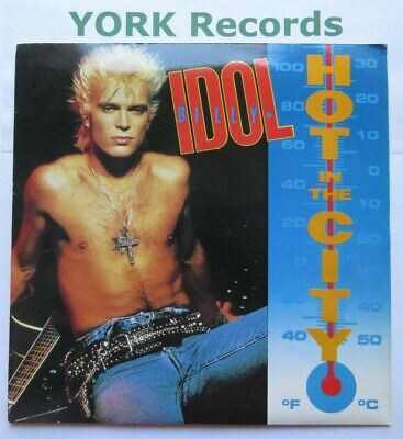 """BILLY IDOL - Hot In The City - Excellent Condition 7"""" Single Chrysalis IDOL 12"""