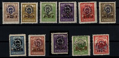 P111572/ Lithuania / Y&T # 237 / 243 - 245 / 248 Neuf **/* / Mint Mnh / Mh 130 E